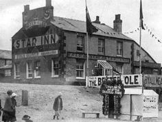 """The fortune-telling booth of """"Gypsy Smith"""" standing in front of the Star Inn at South Shore in the or early Old Photographs, Old Photos, Glasgow, Edinburgh, Great Places, Places To Go, British Seaside, Light Rail, Fortune Telling"""