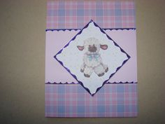Items similar to Lamb Baby Card on Etsy Handmade Greetings, Greeting Cards Handmade, Baby Cards, Lamb, Etsy, Decor, Decorating, Inredning, Interior Decorating