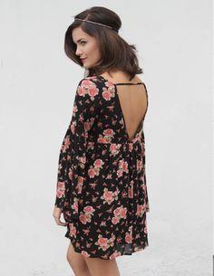 Floral Bell Sleeve Dress #melroseintheoc #floral #bellsleeve #dress #boho #streetstyle #womensfashion