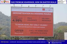 "Avail ""Housing mauka"" with @EktaWorld homes at lowest interest rate.  #OOH #nashik #promotion #Marketing #RealEstate #realestateinvesting"