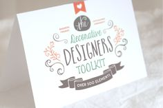 The Decorative Designers Toolkit by Nicky Laatz on @creativemarket