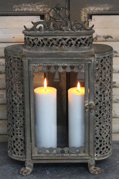 I like the idea of candles in a non-functioning wood stove or fireplace!