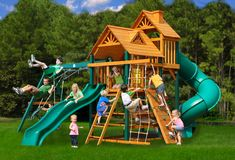 Swings, swing sets and playground accessories on sale every day at Hayneedle. Find kids swing sets or seat or accessory and get great savings on and fast shipping! Wood Swing Sets, Swing Set Plans, Swing Sets For Kids, Kids Swing, Backyard Swing Sets, Kids Backyard Playground, Backyard For Kids, Playground Ideas, Backyard Ideas