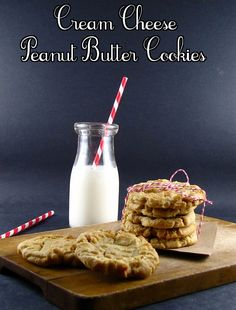 Cream Cheese Peanut Butter Cookies