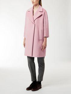 Max Mara JUGLAS rosa: Cappotto in lana, seta e angora.
