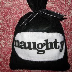 Naughty or Nice bags tutorial. Too cute!