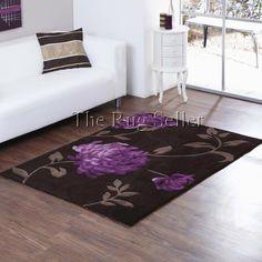 Aspire lena rugs in chocolate plum buy online from the rug seller uk