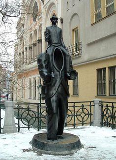 Prague - Franz Kafka memorial.