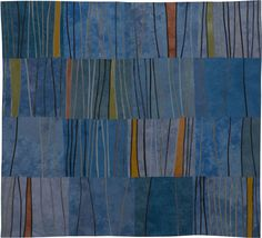 Abstract Contemporary Textile Painting / Art Quilt - Markings #7 ©2007 Lisa Call