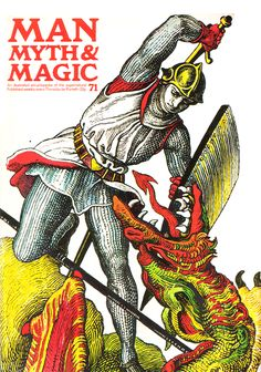 Knight v. Dragon, rad cover of an issue of Man, Myth, & Magic.