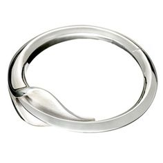 silver Lilly hinged bangle by Simon Pure Jewellery