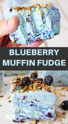 This Blueberry Muffin Fudge Recipe is so simple and easy to make! It's got such a wonderful taste as well. Plus a beautiful color to showcase! Easy Blueberry Desserts, Easy Blueberry Muffins, Blue Berry Muffins, Fudge Recipes, Dessert Recipes, Candy Recipes, Quick Recipes, Baking Recipes, Dark Chocolate Recipes