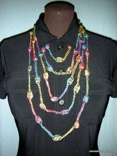 Free-Crochet-Puff-Stitch-Necklace-Long