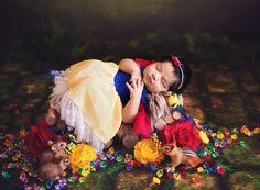 Os retratos das meninas produzidas como mini princesas Disney foram feitos por Karen Marie, da Belly Beautiful Portraits.