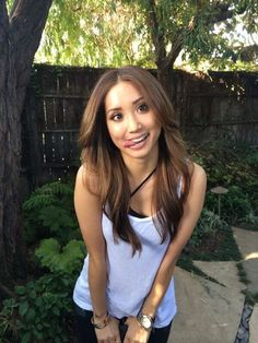 Brenda Song shows off her new hair color and style!