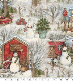 Holiday Barn Christmas Cotton Fabric Christmas Valances, Christmas Fabric, Plaid Christmas, Green Christmas, Christmas Snowman, Christmas Tree With Presents, Snow Holidays, Thing 1, Christmas Projects