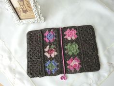 Inside construction of crochet book cover