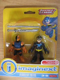 Fisher Price Imaginext Justice League *DC Comics Slade & Nightwing* New & Rare!! #FisherPrice