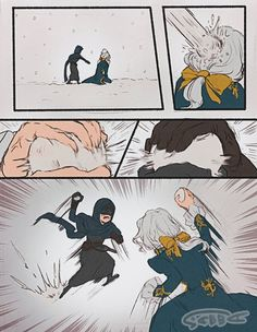Identity v Seer vs Photographer at snowball Sad Comics, Funny Comics, Identity Art, Beautiful Anime Girl, Kawaii Cute, Game Character, Doujinshi, Funny Moments, Memes