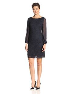 $72 Jessica Howard Women's Sheer Sleeve Shift Dress, Navy, 10 Jessica Howard http://www.amazon.com/dp/B00OVCNC7Q/ref=cm_sw_r_pi_dp_IML5vb0B7922C