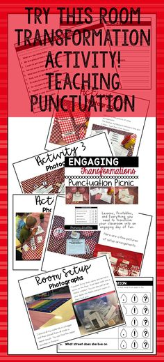 This product covers types of sentences and punctuation (question command statement exclamation. With this product you can transform your classroom into an unforgettable punctuation experience for your students! Reading Skills, Teaching Reading, Guided Reading, Kindergarten Writing, Teaching Tips, Daily 5 Activities, Back To School Activities, Teaching Punctuation, Motivational Activities