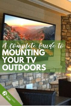 Whether you live in a suburb, on a secluded island, or someplace in between, there is no arguing that sitting outdoors and enjoying some sunshine while watching TV is a good idea all year round. We've built a guide to mounting your TV to the siding of your home, complete with tips on mounting brackets, anchors, TVs, and covering systems. Check it out!
