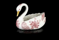Floreira em forma de cisne em cerâmica da Secla.