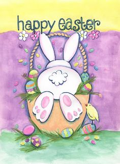 Happy Easter- wishing all my Friends a beautiful holiday! Easter Art, Hoppy Easter, Easter Crafts, Easter Bunny, Easter Eggs, Easter Wallpaper, Holiday Wallpaper, Iphone Wallpaper, Easter Paintings