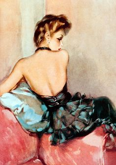 "vintagegal:  ""Backward Glance"" by David Wright, 1946"
