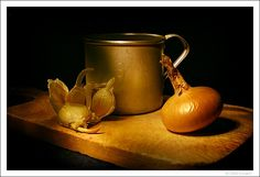 Still Life with onion by kovalvs.deviantart.com on @deviantART