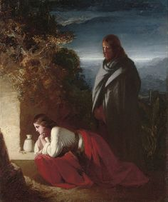 Henry Le Jeune, A. <BR> Mary Magdalen at the sepulchre <BR> with an extensive inscription from St. John's Gospel (on the reverse)<BR> oil on panel <BR> 12 x 9 in. Catholic Art, Religious Art, Mary Of Bethany, Mary Magdalene And Jesus, Jesus Christ Painting, Noli Me Tangere, Marie Madeleine, Jesus E Maria, Spiritual Warrior