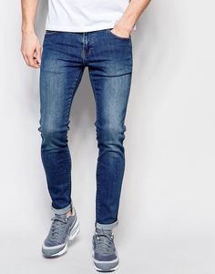 Dr Denim Jeans Snap Skinny Fit Mid Stone Wash