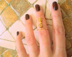 Stacking Above Knuckle antique gold plating boho ring boho jewelry $14.00 USD