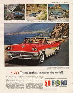1957 Ford Thunderbird Original Car and Truck Print Ad - TnTCollectibles
