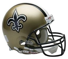 NFL New Orleans Saints Full Size Proline VSR4 Football Helmet by Riddell. $197.96. Z2B carbon steel runningback/quarterback facemask. 4-point chin strap. Large polycarbonate shell/full size shell. Authentic team shell colors and decal. Authentic internal padding and inflation points. Support your favorite team by displaying the NFL® Proline Authentic football helmet in your favorite room. This officially licensed helmet is designed with a Kra-Lite II® Polycarbona...