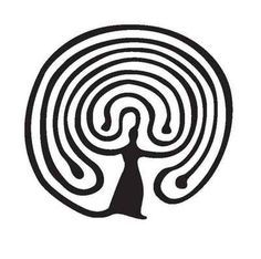 Hindu or Indian form of labyrinth with a spiral in its