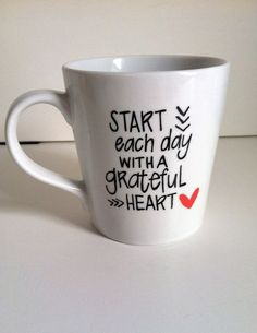 Start Each Day With a Grateful Heart by MorningSunshineShop, $14.00