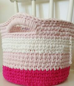 Tecendo Artes em Crochet: Fazendo Cestos com Fio de Malha!