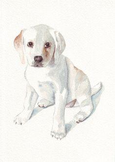 CUSTOM Pet Portrait Original Watercolor Painting by Splodgepodge, $65.00