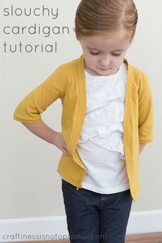 Slouchy cardigan tutorial