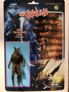 Rare action figure of Eddie Quist from The Howling Retro Toys, Vintage Toys, Retro Vintage, Horror Action Figures, Action Movies, Free Christmas Gifts, The Howling, Monster Toys, Famous Monsters