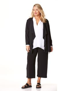SPICE LONG DRAPED FRONT JACKET