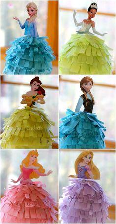 diy-frozen-or-princess-birthday-pinatas