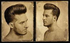 Perfekter Pompadour - New Site Barber Haircuts, Haircuts For Men, Unisex Haircuts, Men's Haircuts, Pompadour Fade, Pompadour Hairstyle, Updos Hairstyle, Medium Hairstyles, Boys Leather Jacket
