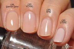 OPI Samoan Sand OPI You Callin' Me A Lyre? OPI Barre My Soul OPI Let Them Eat Rice Cake Opi Samoan Sand, Opi Colors, Gel Polish Colors, Nail Polish, Barre, Naked Palette, Nude Nails, Swatch, Health And Beauty