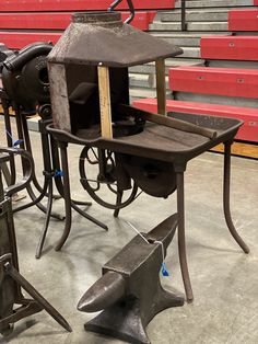 Blacksmith Tools, Picnic Table, Blacksmithing, Furniture, Home Decor, Blacksmith Shop, Interior Design, Home Interior Design, Blacksmith Forge