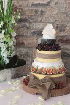 If you don't have a sweet tooth, why not consider a rustic cheese wedding cake?