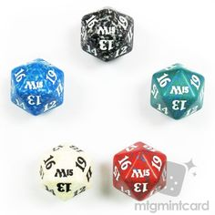 Magic the Gathering  2015 Core Set 20-SIDED LIFE COUNTER DICE SET