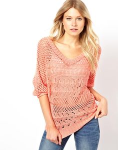 Oasis V Neck Knitted Top