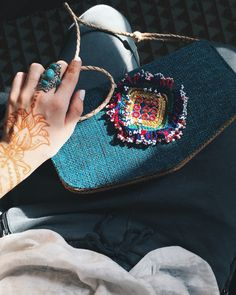 One of a kind handcrafted bag from Touching Tribes